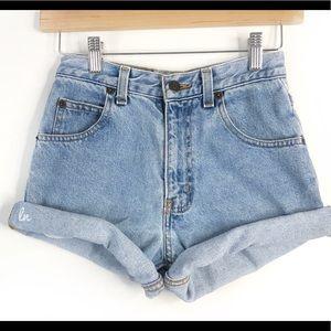 Vintage High Waisted Shorts, denim shorts